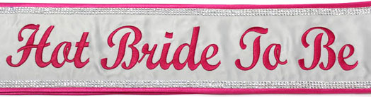 pink bride pageant sash